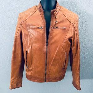 Vera Pelle Vintage Soft Leather Motorcycle Jacket
